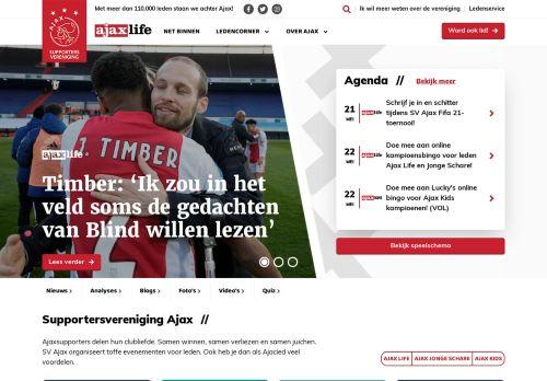 Screenshot van ajaxlife.nl