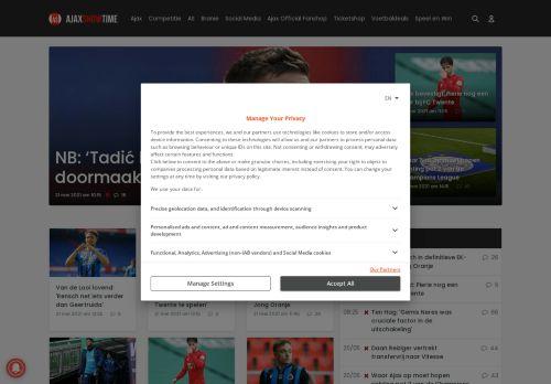 Screenshot van ajaxshowtime.com