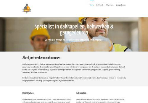 Screenshot van akrol.nl
