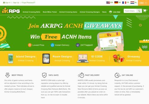 Screenshot van akrpg.com