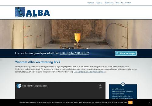 Screenshot van alba-vochtwering.nl