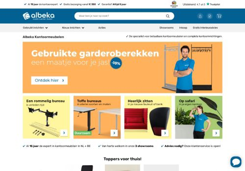 Screenshot van albeka.nl