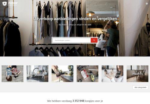 Screenshot van aldoor.nl