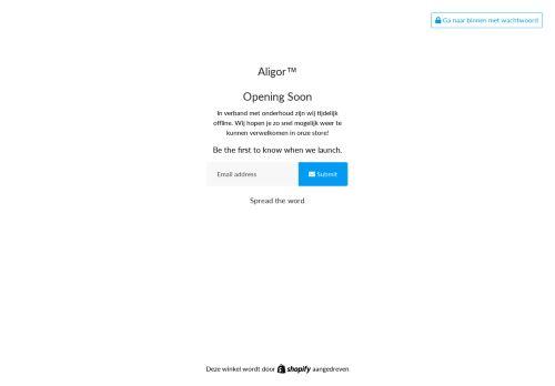 Screenshot van aligor.nl