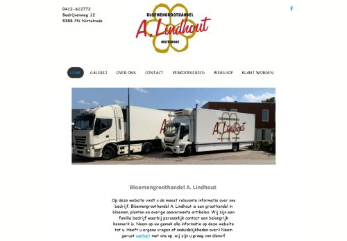 Screenshot van alindhout.nl