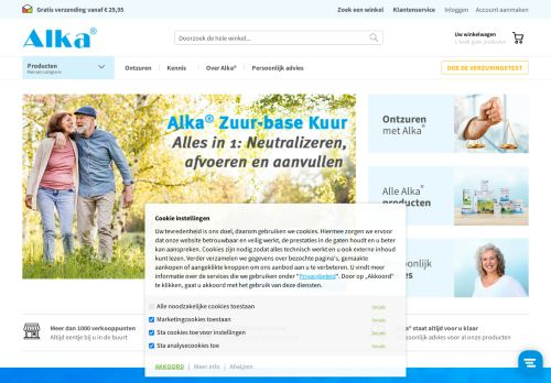 Screenshot van alka.nl
