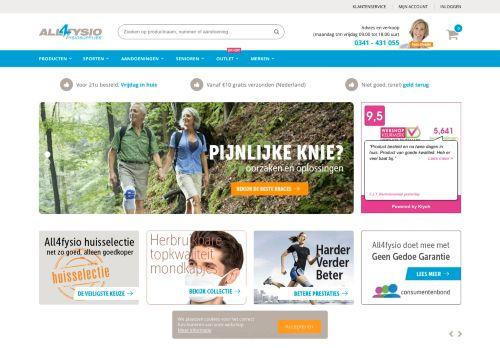 Screenshot van all4fysio.nl