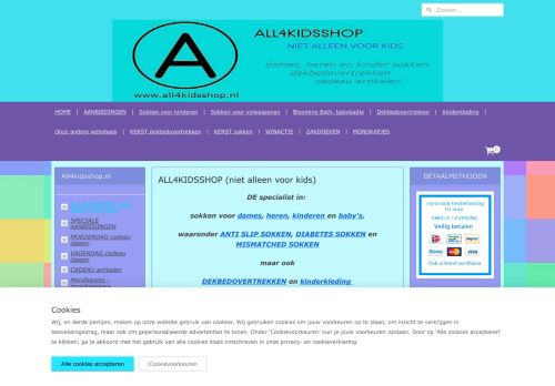 Screenshot van all4kidsshop.nl