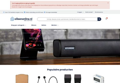 Screenshot van alleenonline.nl