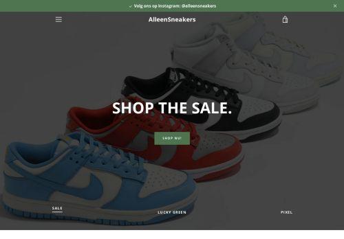 Screenshot van alleensneakers.com