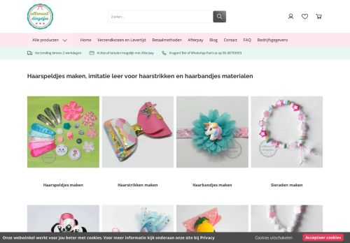 Screenshot van allemaaldingetjes.nl
