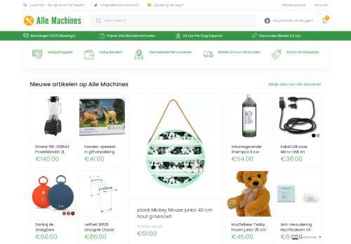 Screenshot van allemachines.com