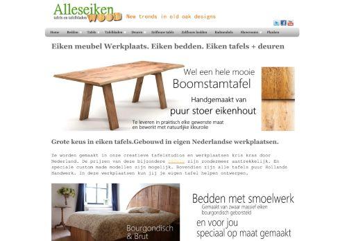 Screenshot van alleseiken.nl