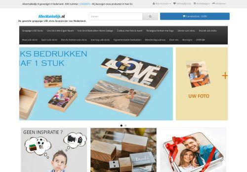 Screenshot van allesmakkelijk.nl