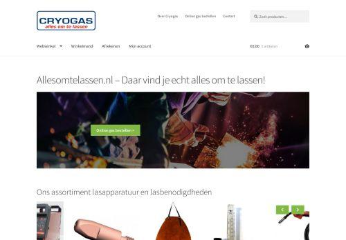 Screenshot van allesomtelassen.nl