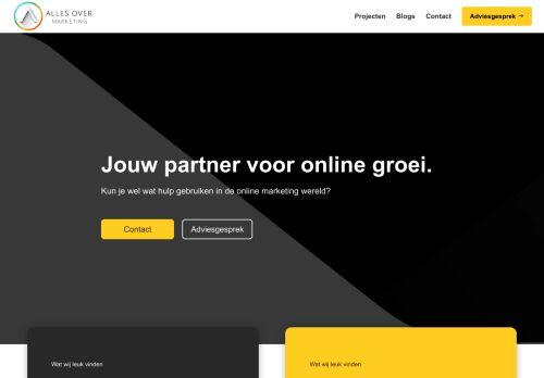Screenshot van allesovermarketing.nl