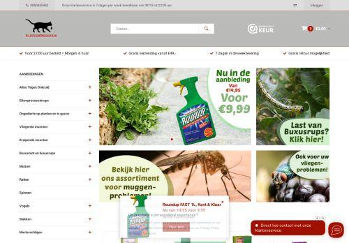 Screenshot van allestegenongedierte.nl