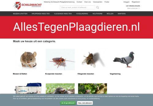 Screenshot van allestegenplaagdieren.nl
