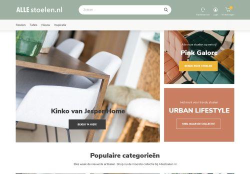 Screenshot van allestoelen.nl