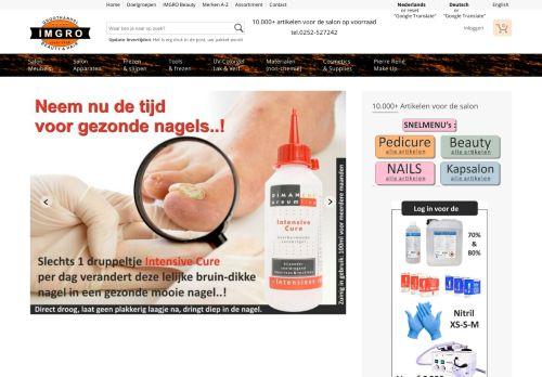 Screenshot van allesvoordesalon.com