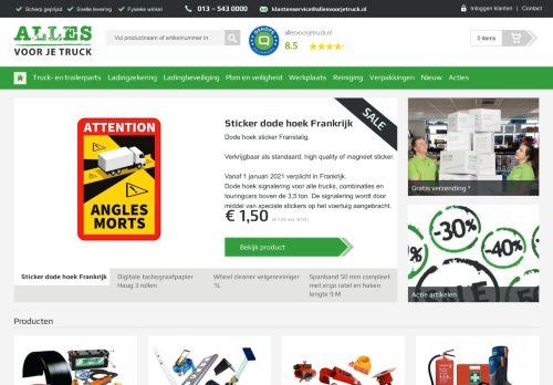 Screenshot van allesvoorjelogistiek.nl