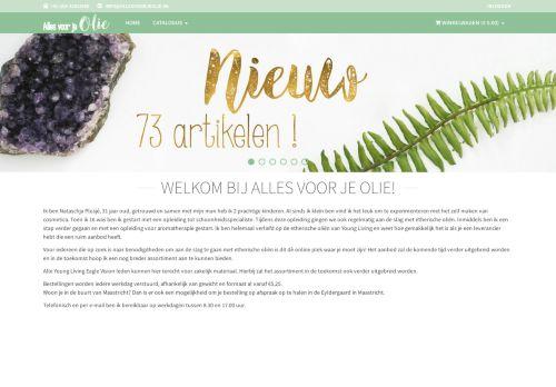 Screenshot van allesvoorjeolie.nl