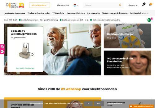 Screenshot van allesvoororen.nl