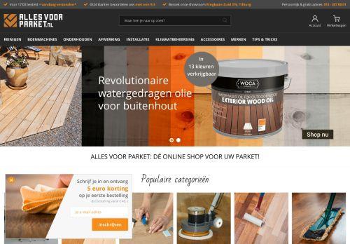 Screenshot van allesvoorparket.nl