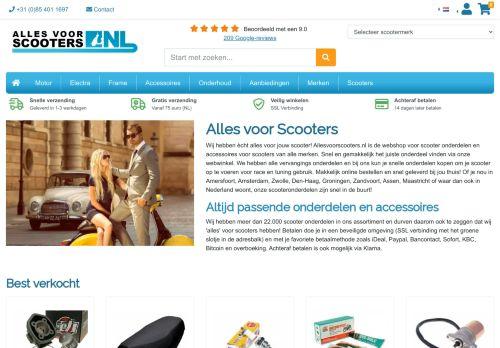 Screenshot van allesvoorscooters.nl
