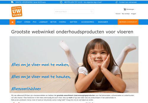 Screenshot van allesvooruwvloer.nl
