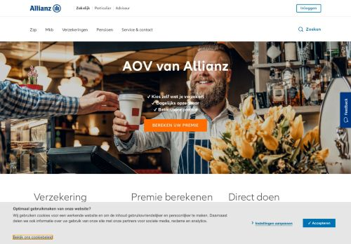 Screenshot van allianz.nl