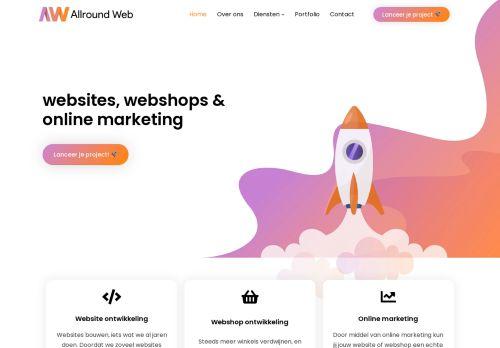 Screenshot van allroundweb.nl