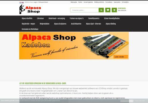 Screenshot van alpaca-shop.eu