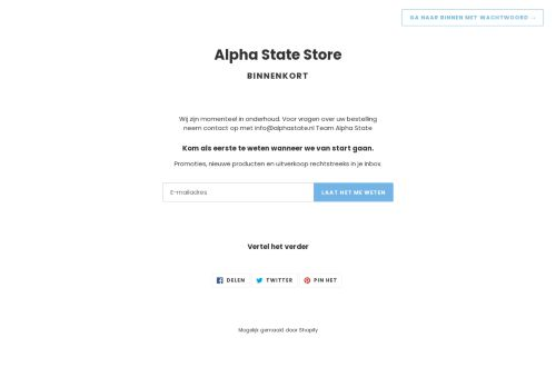Screenshot van alphastate.nl
