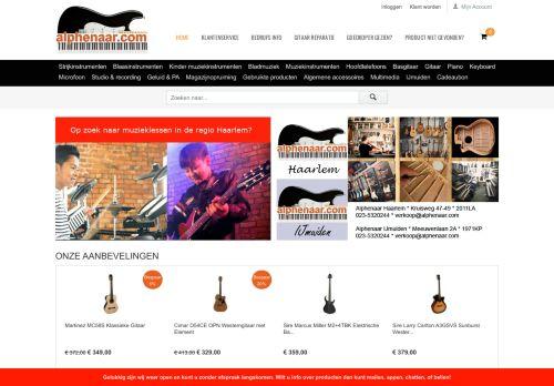 Screenshot van alphenaar.com