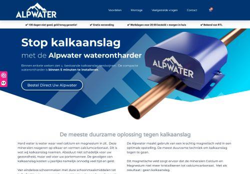 Screenshot van alpwater.eco