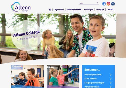 Screenshot van altenacollege.nl