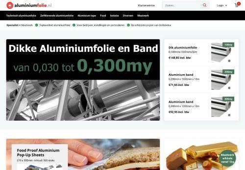 Screenshot van aluminiumfolie.nl