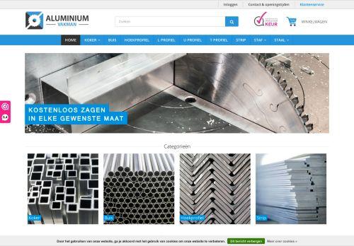 Screenshot van aluminiumvakman.nl