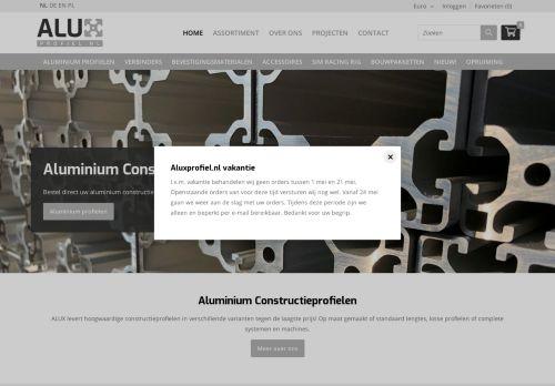 Screenshot van aluxprofiel.nl