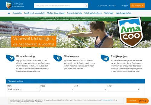 Screenshot van amacoo.nl