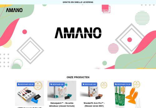 Screenshot van amano-nl.com