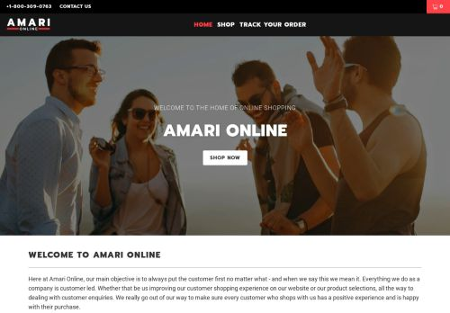 Screenshot van amari-online.com