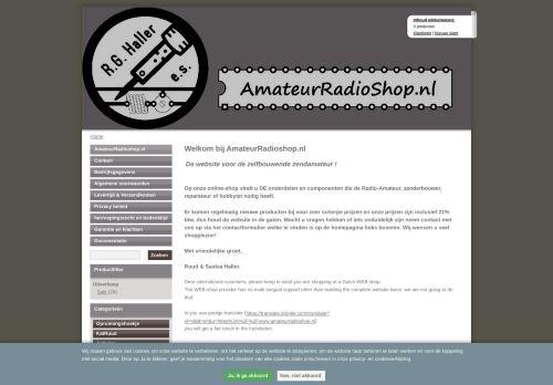 Screenshot van amateurradioshop.nl