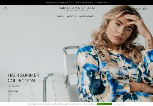 Screenshot van amaya-amsterdam.com