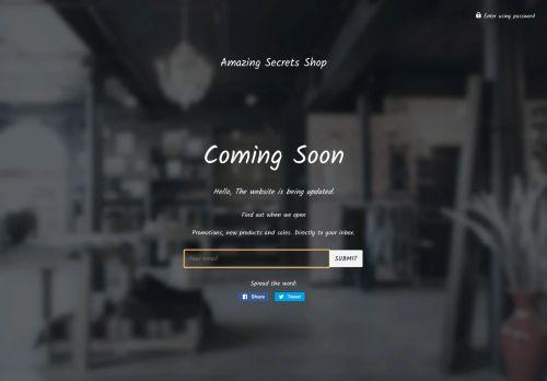 Screenshot van amazingsecretsshop.com