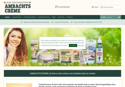 Screenshot van ambachtscreme.nl