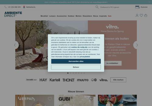 Screenshot van ambientedirect.nl