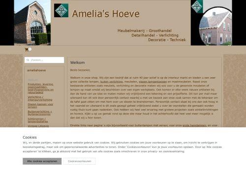 Screenshot van amelias.nl
