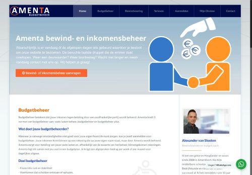 Screenshot van amenta.nl